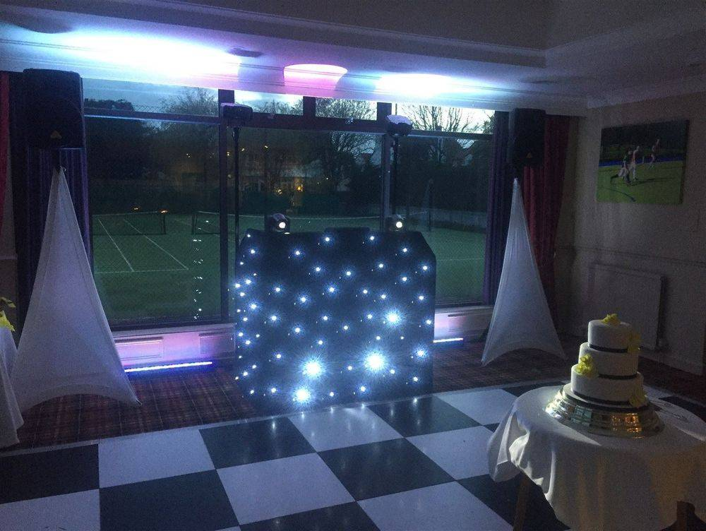 Southport DJ, Glynn Tee, Bronze Plus Package set up for a Wedding Reception at Southport and Birkdale Cricket Club.
