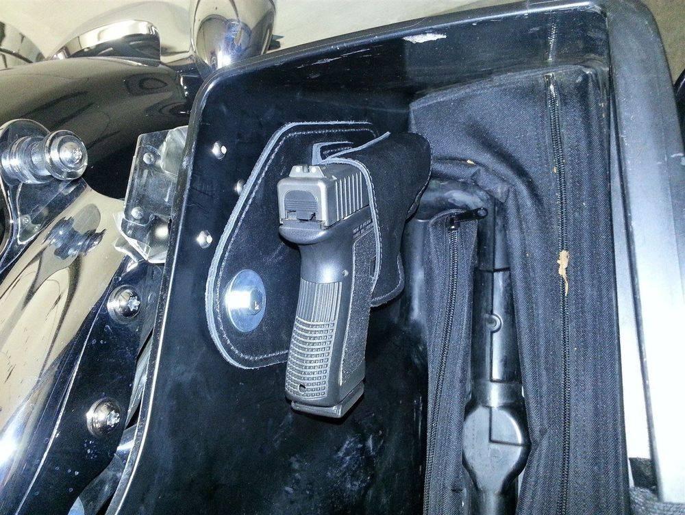 gun holster in rear hole