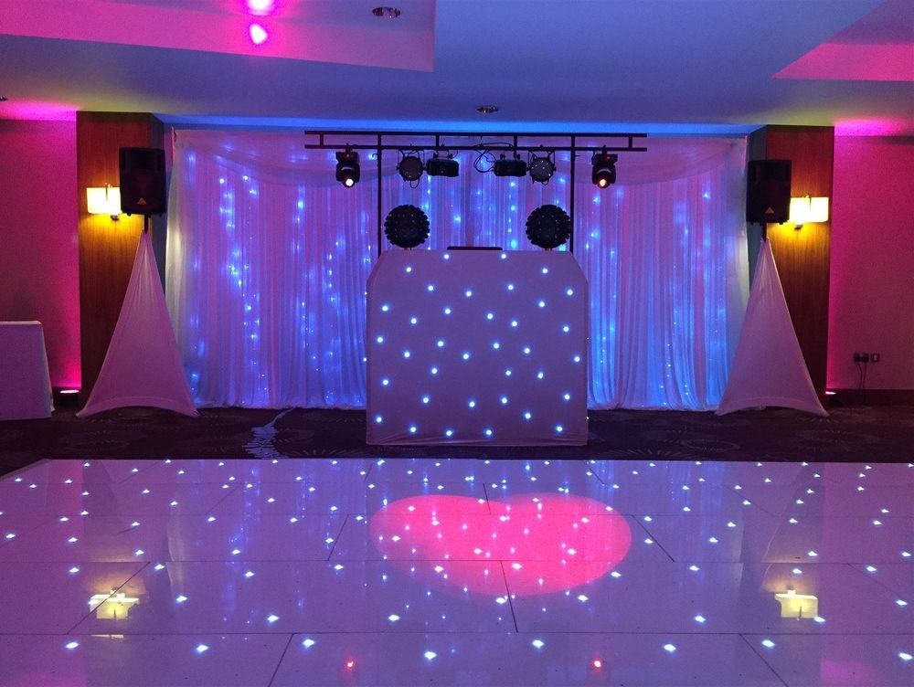 Gold Set Up with backdrop and dance floor