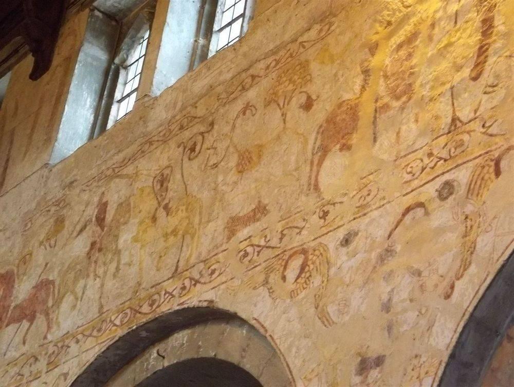 Medieval wall paintings Claverley