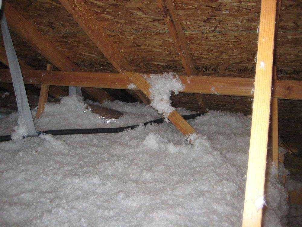 I Can't Breath!: A&D Home Inspection : One Year Builders Warranty: Blown in fiberglass insulation blocks soffet vents, house can't breath, It gets hot in attic. Electric bills literally go out the roof. A&D Home Inspection