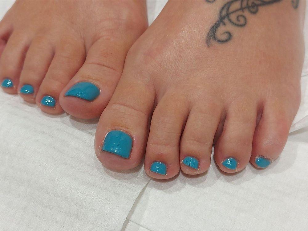 Calgel Nails pedicure