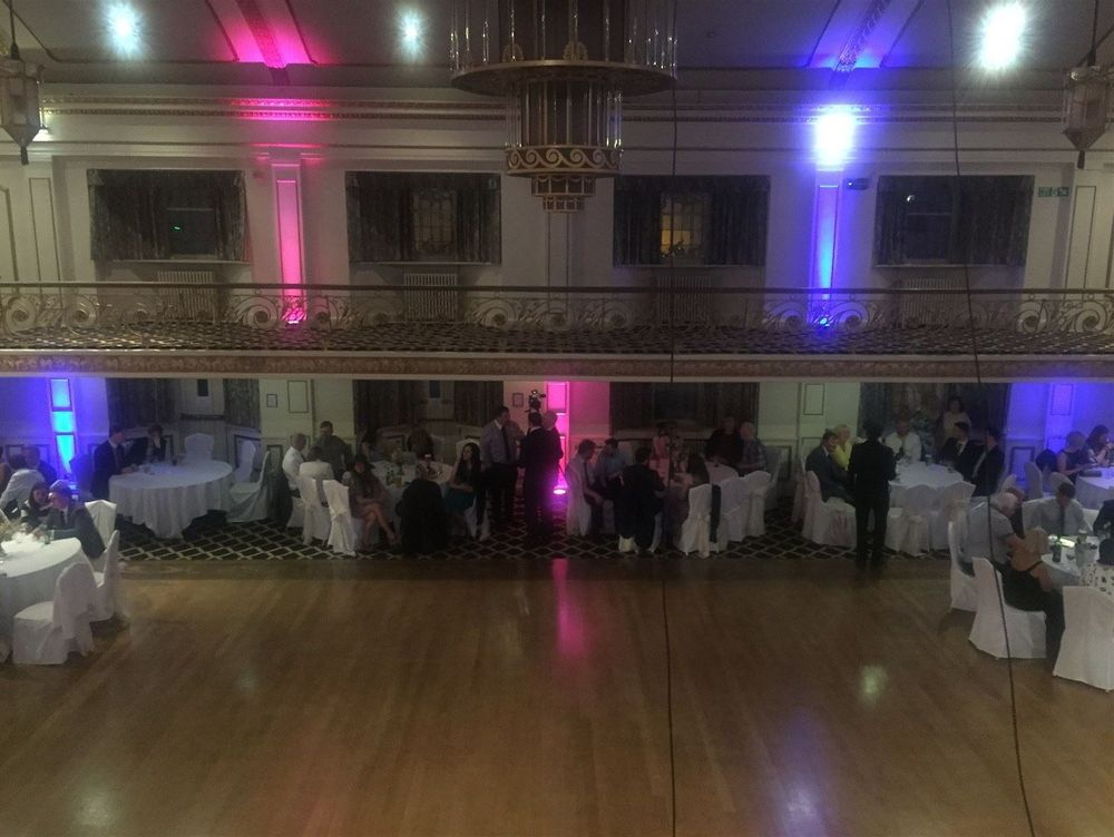 Uplighting at Prince of Wales Hotel, Southport - Glynn Tee - Professional DJ - Uplighting