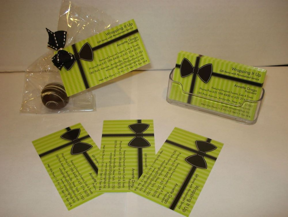 : Or . . .attach your card to any one of our delicious truffles! (We have many flavors to choose from.)