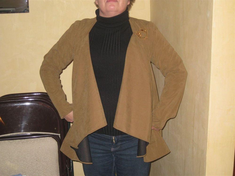Faux bonded suede swing jacket
