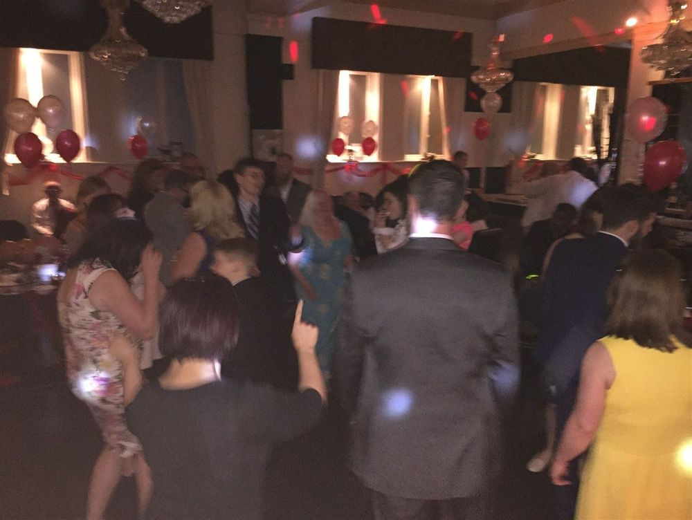 Wedding Dance floor at West Tower, Lancashire