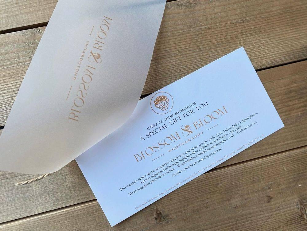 Company branding, gift vouchers