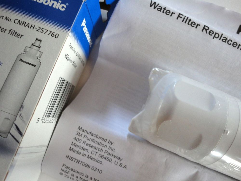 Panasonic - CNRAH-257760 - CNRBH-125950 - replacement refrigerator fridge water filter cartridges - top view - stocked and sold at www.aaafilterfast.co.uk