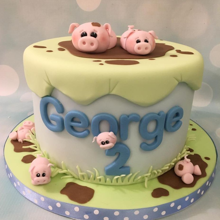 Pigs Mud Cake Farm Birthday Kid Novelty