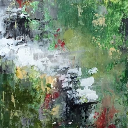 Abstract art, abstract landscape, abstract oil painting, oil and cold wax art, nature walk, landscape painting, mixed media artist, ethereal art