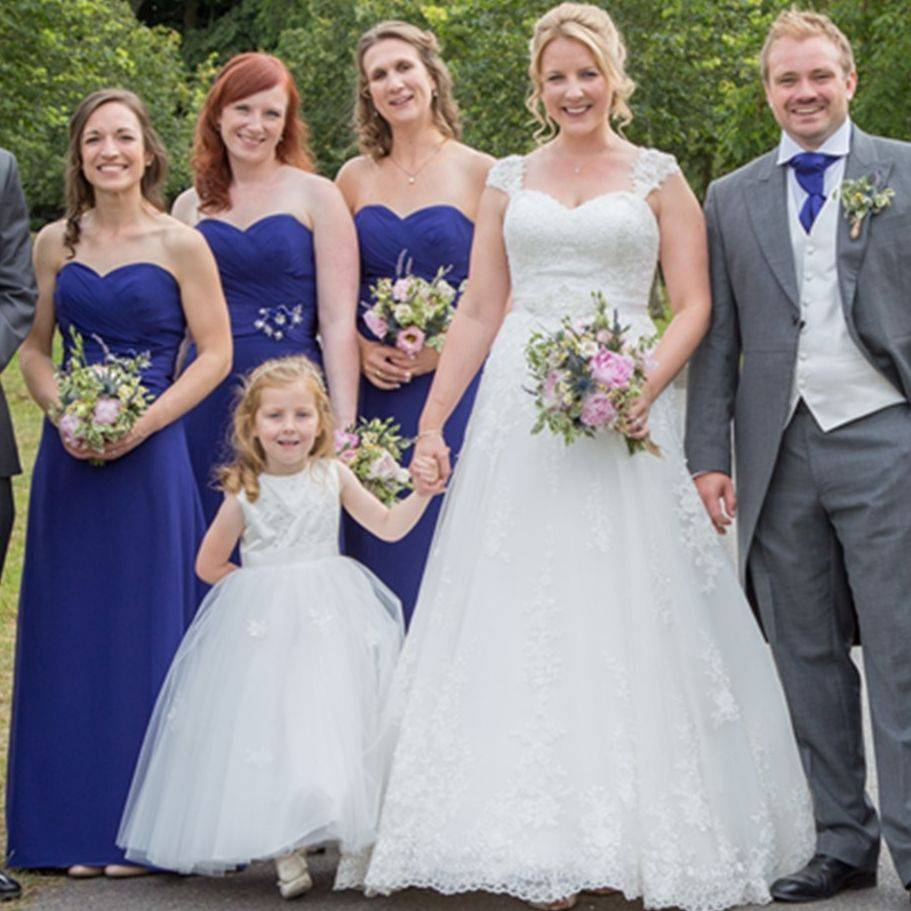 Matching Bridesmaids and flower girl