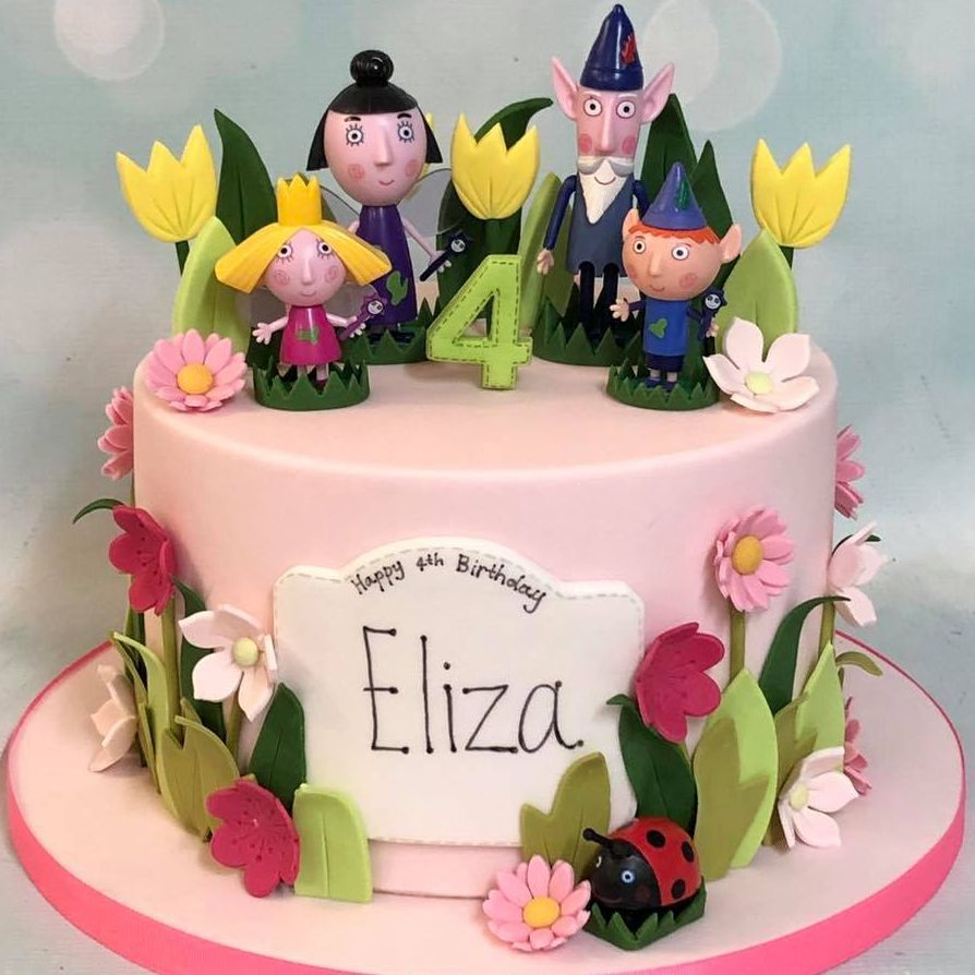 Ben Holly Elf Fairy Birthday Cake Flowers