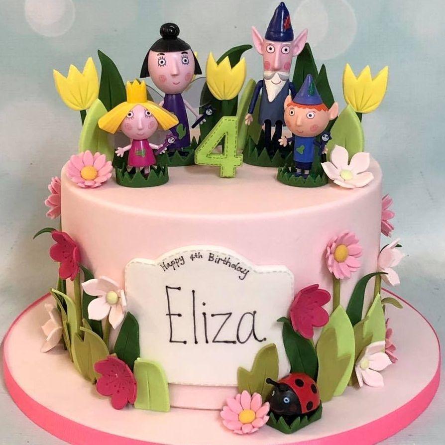 Ben Holly Elf Fairy Birthday Cake Flowers