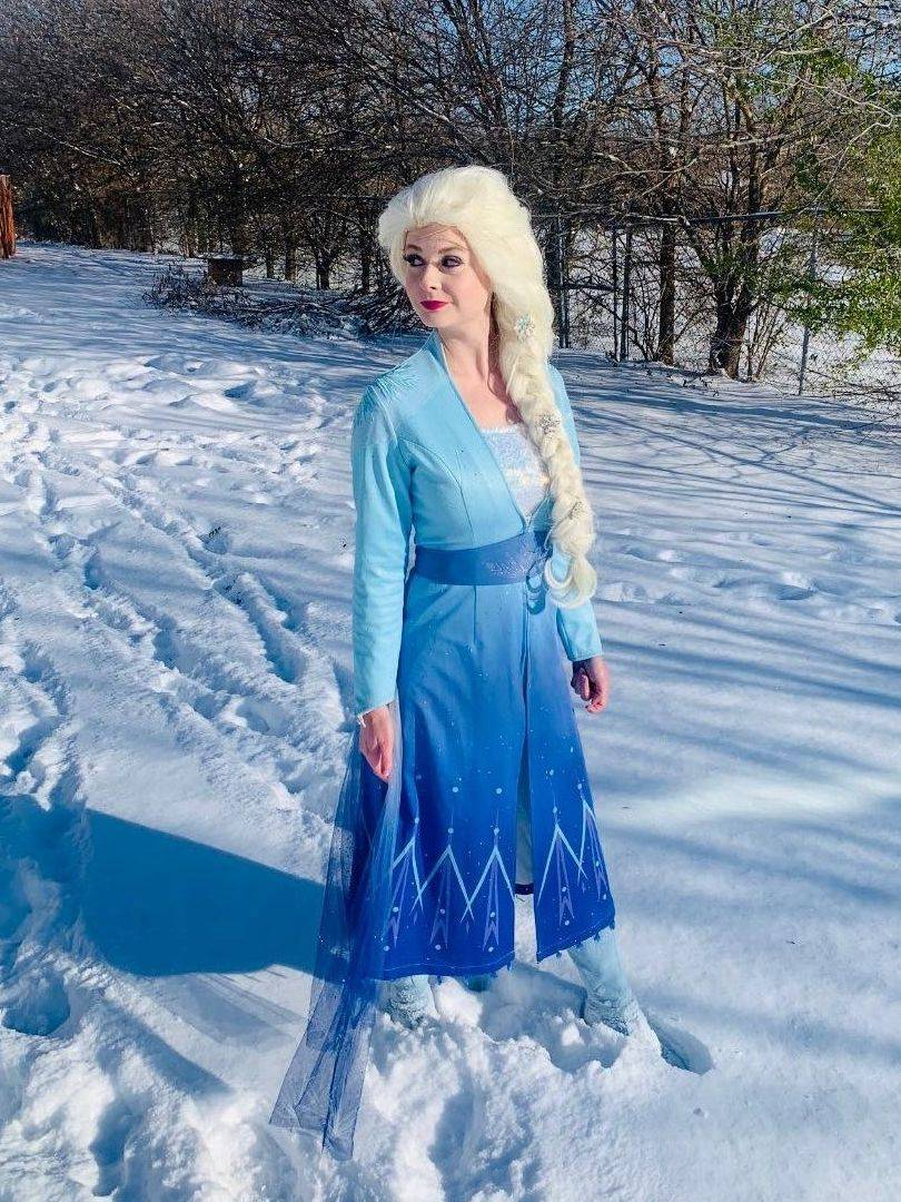 Frozen 2 Elsa Anna party character impersonator by Fairytale Friends of San Antonio