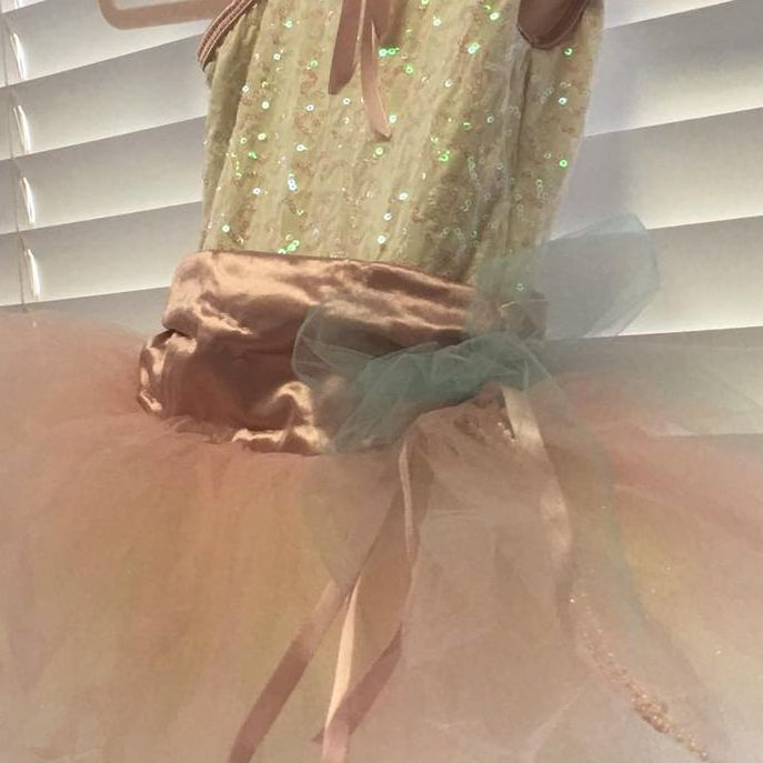 Blush tutus worn by our tiny dancers ages 2-4.