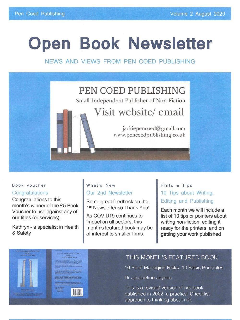 newsletter 2, Open Book newsletter