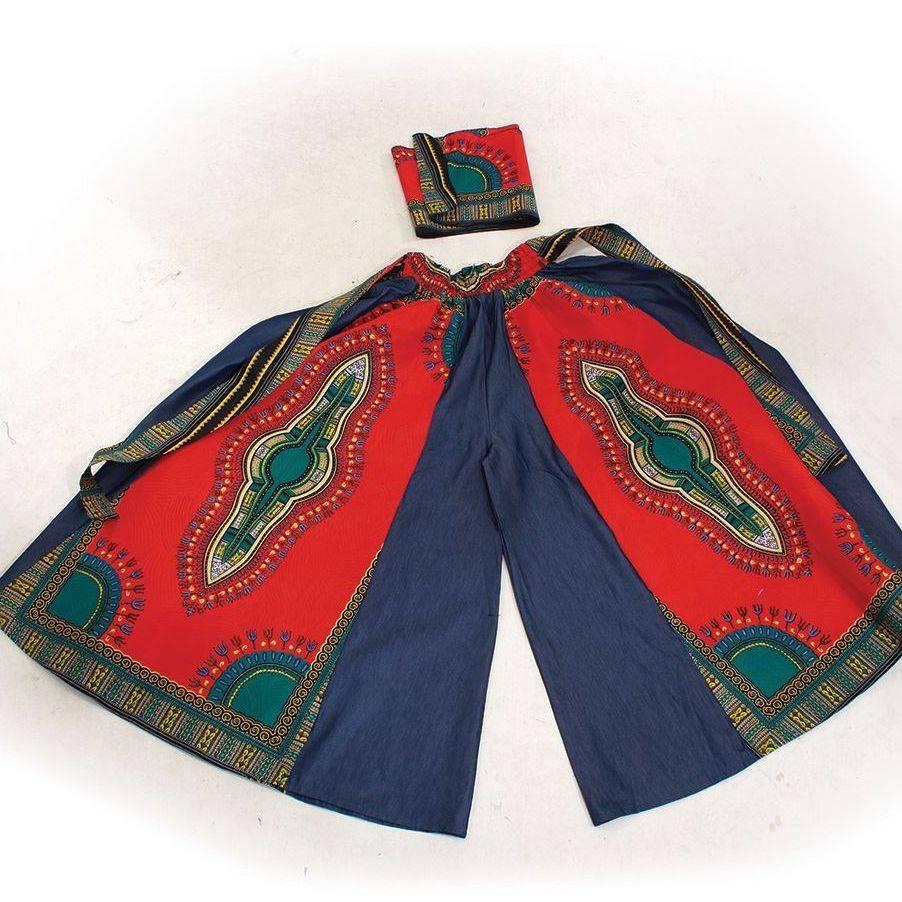 pallazo pants african print