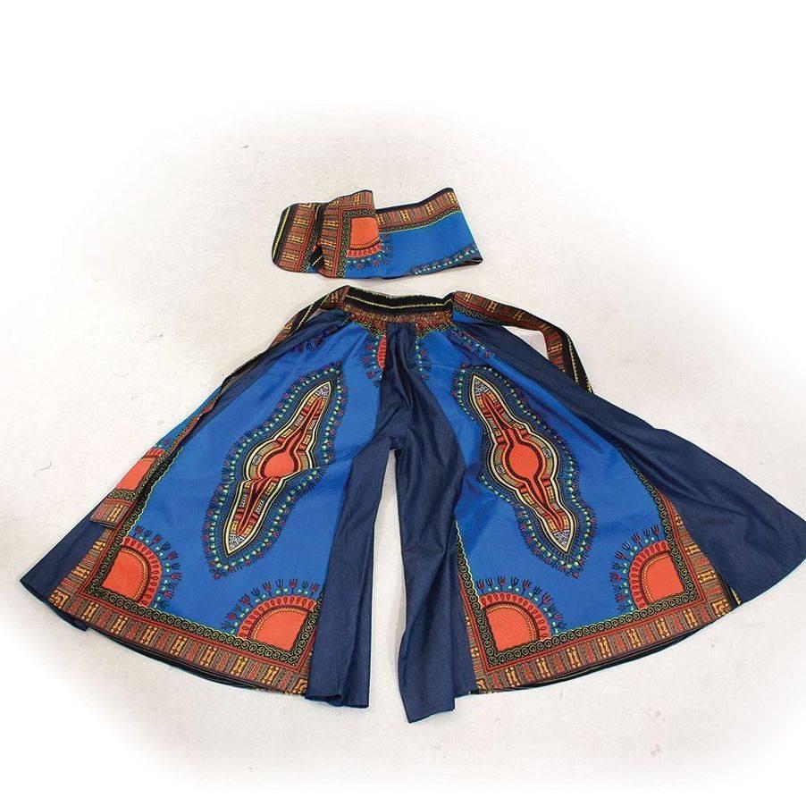 african print pallazo pants