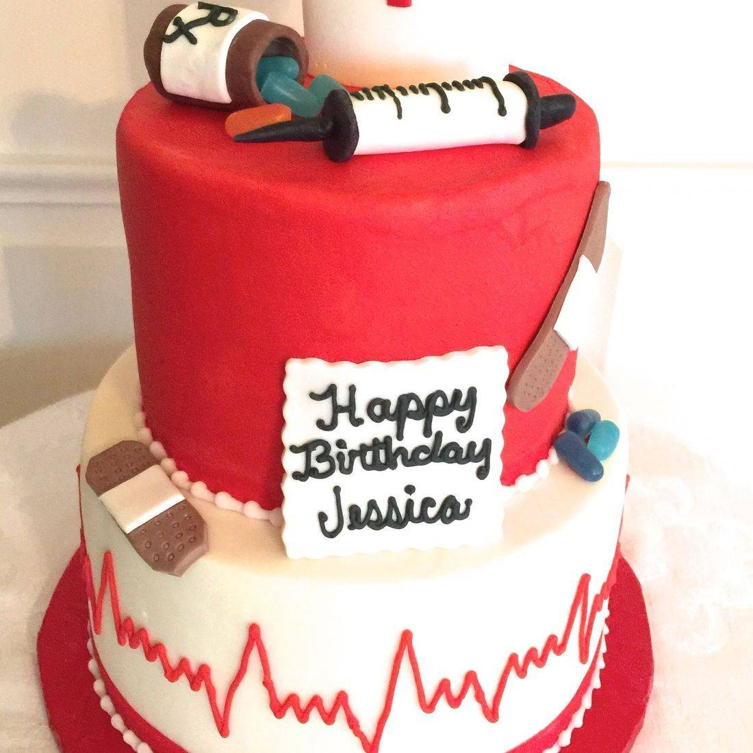 Nurse Medical Birthday Cake