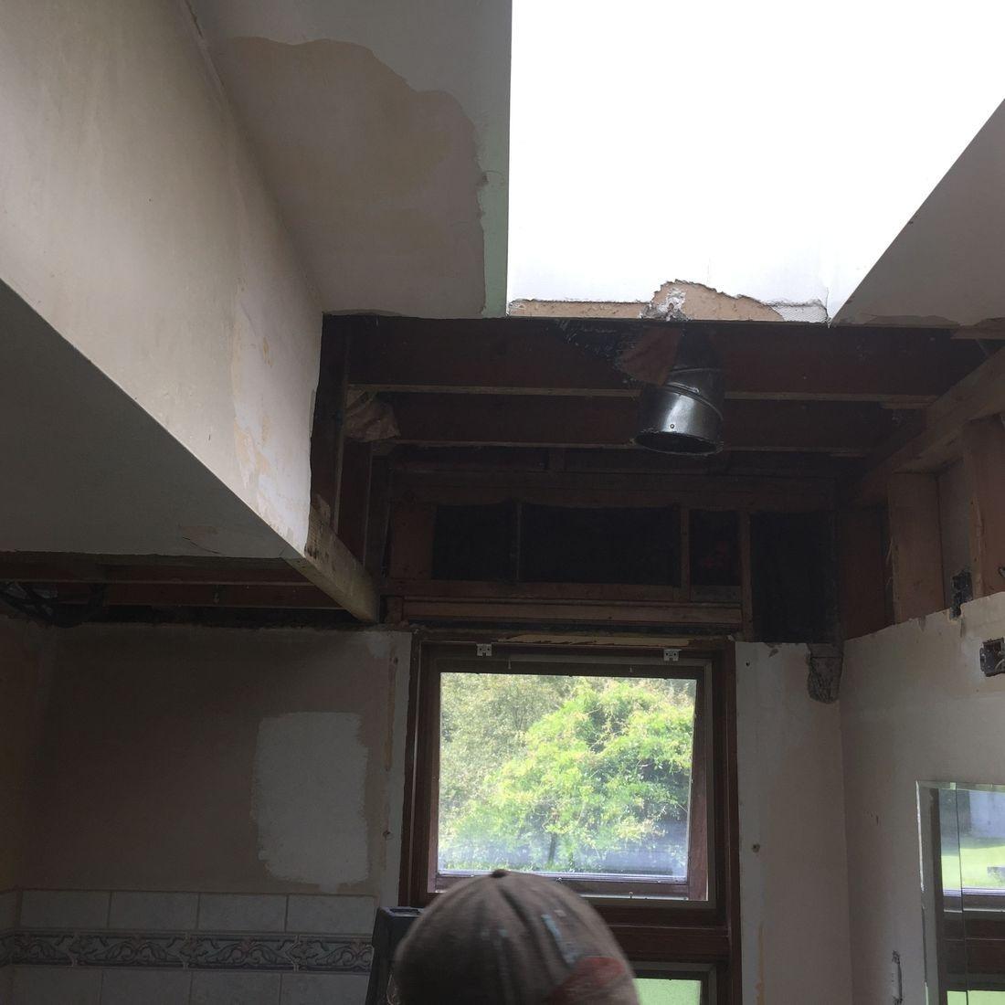 Ceiling Repairs Before