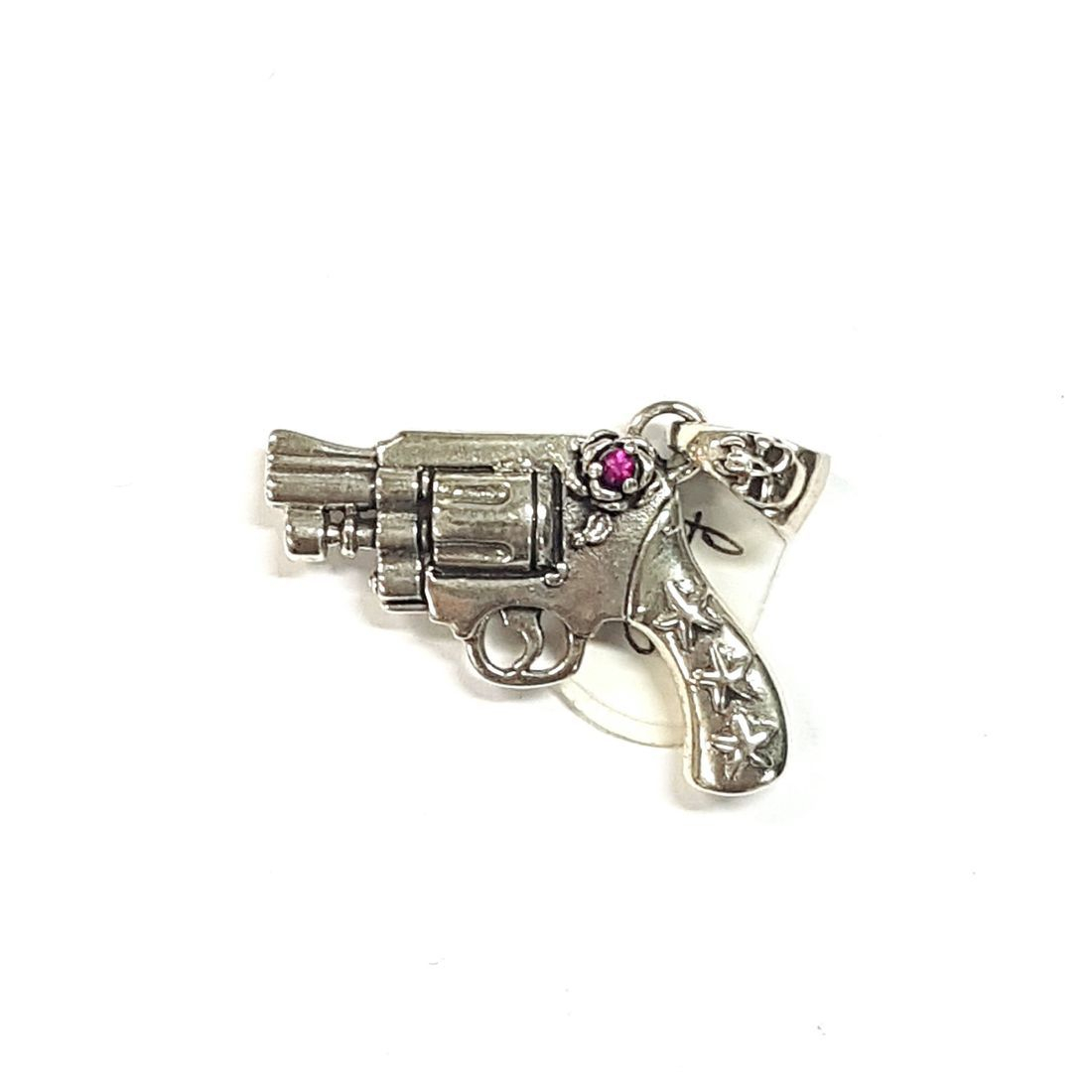 Pink Crystal Gun Pendant  available at Kazbah online and our Leicester City Centre shop
