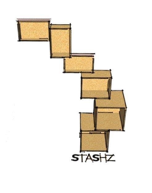 Stashz! module osb design meubelen, modulair kubus kasten, osb boekenkasten, osb  dressoir, osb ontwerp kastjes, kubussen Stashz! by www.woodexclusive.nl