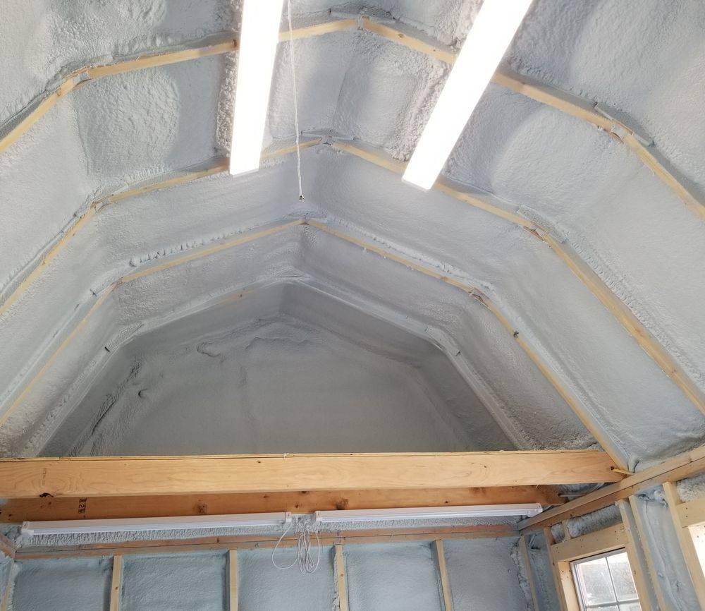 Spray foam Shed- Marysville, WA