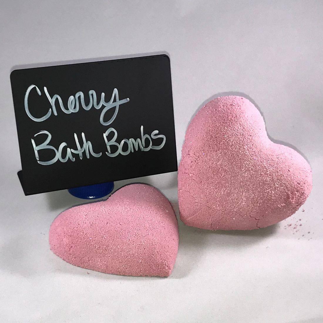 Bath Bomb, shea butter, cherry, scented, moisturizing,