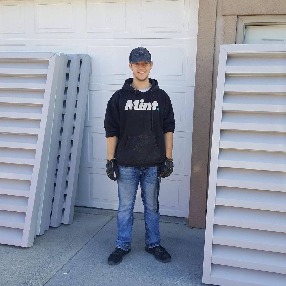 Large aluminum gable louvers