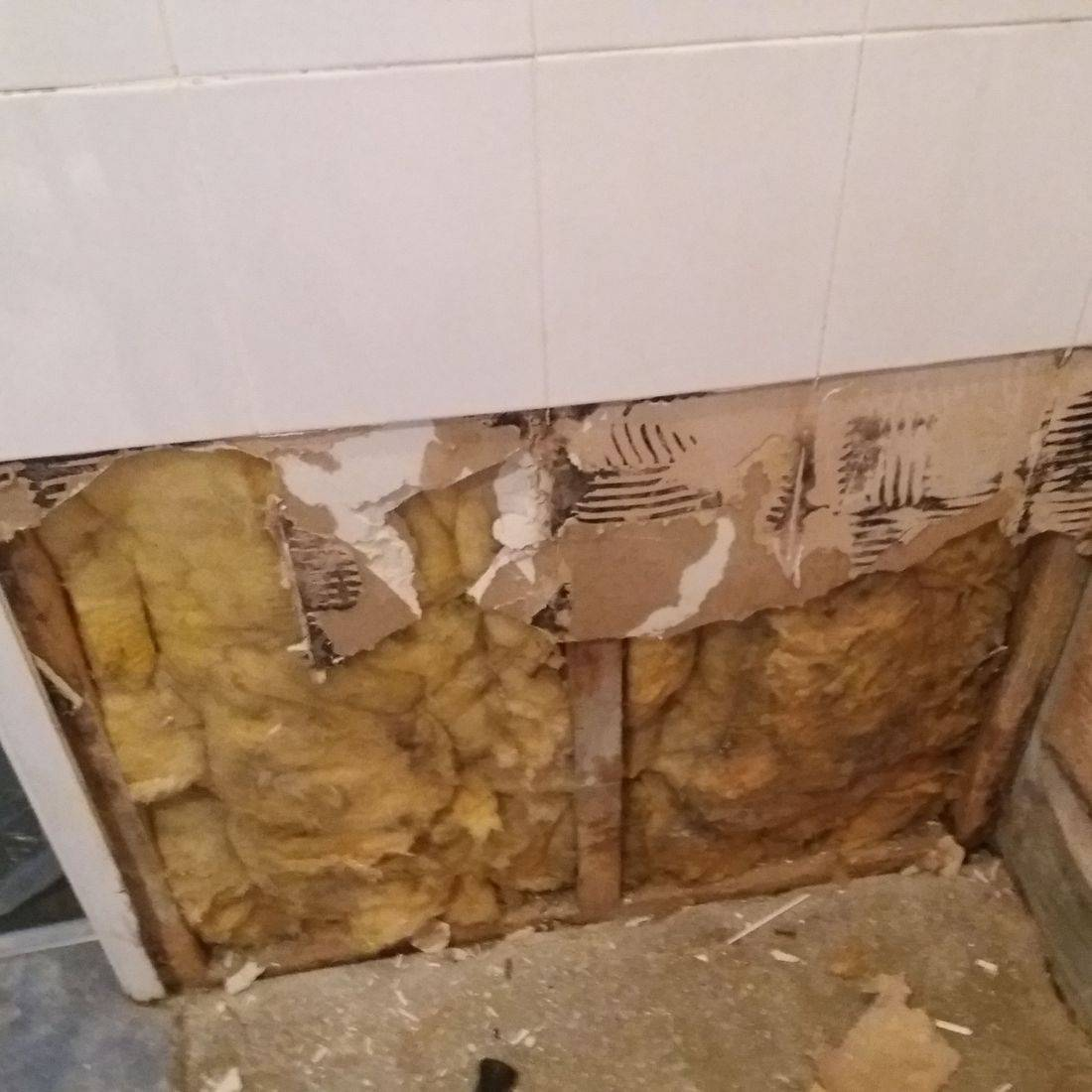 Water damage to shower room