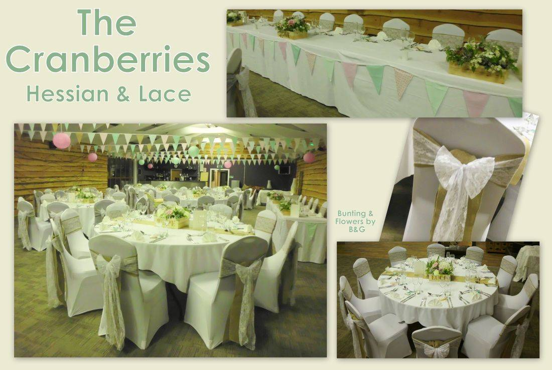 The Cranberries Wedding in Hessian & Lace