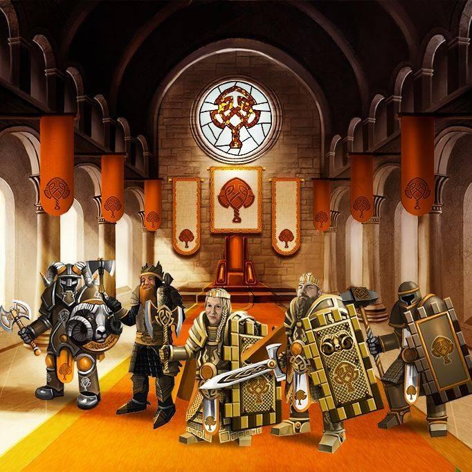 Orange faction throne room