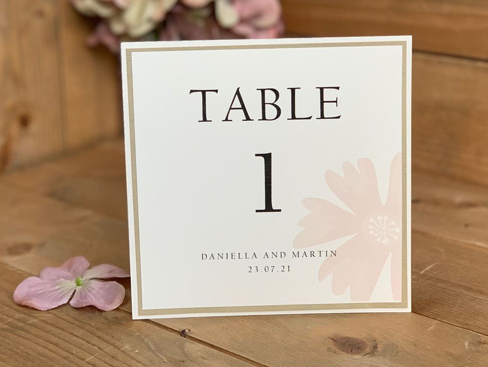 White and Silver  glitter table number card with Pearls