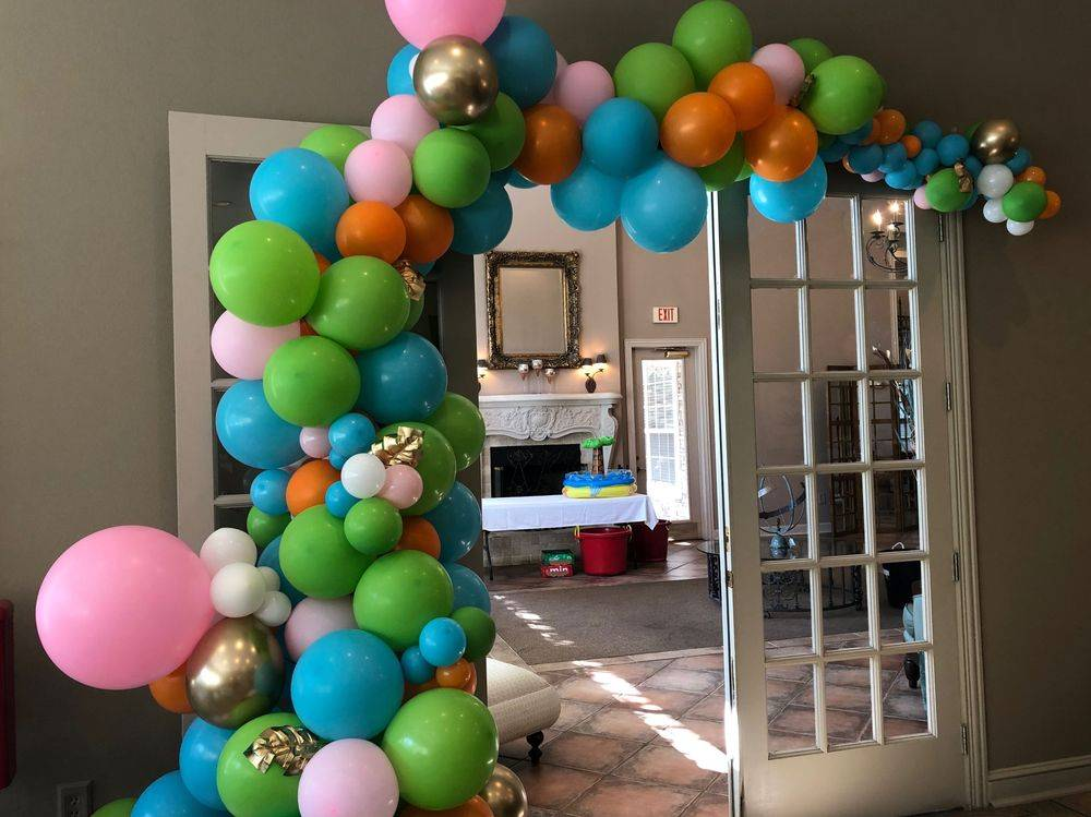 Organic Balloon Garland, Gold Chrome Balloons