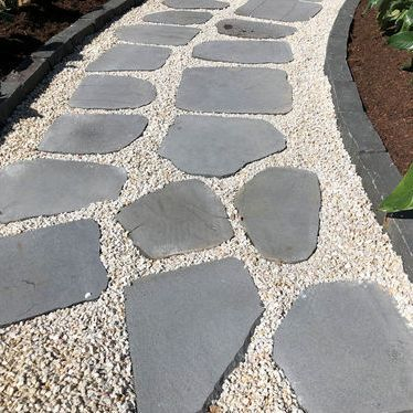 Lava stepping stones, unique paving ideas