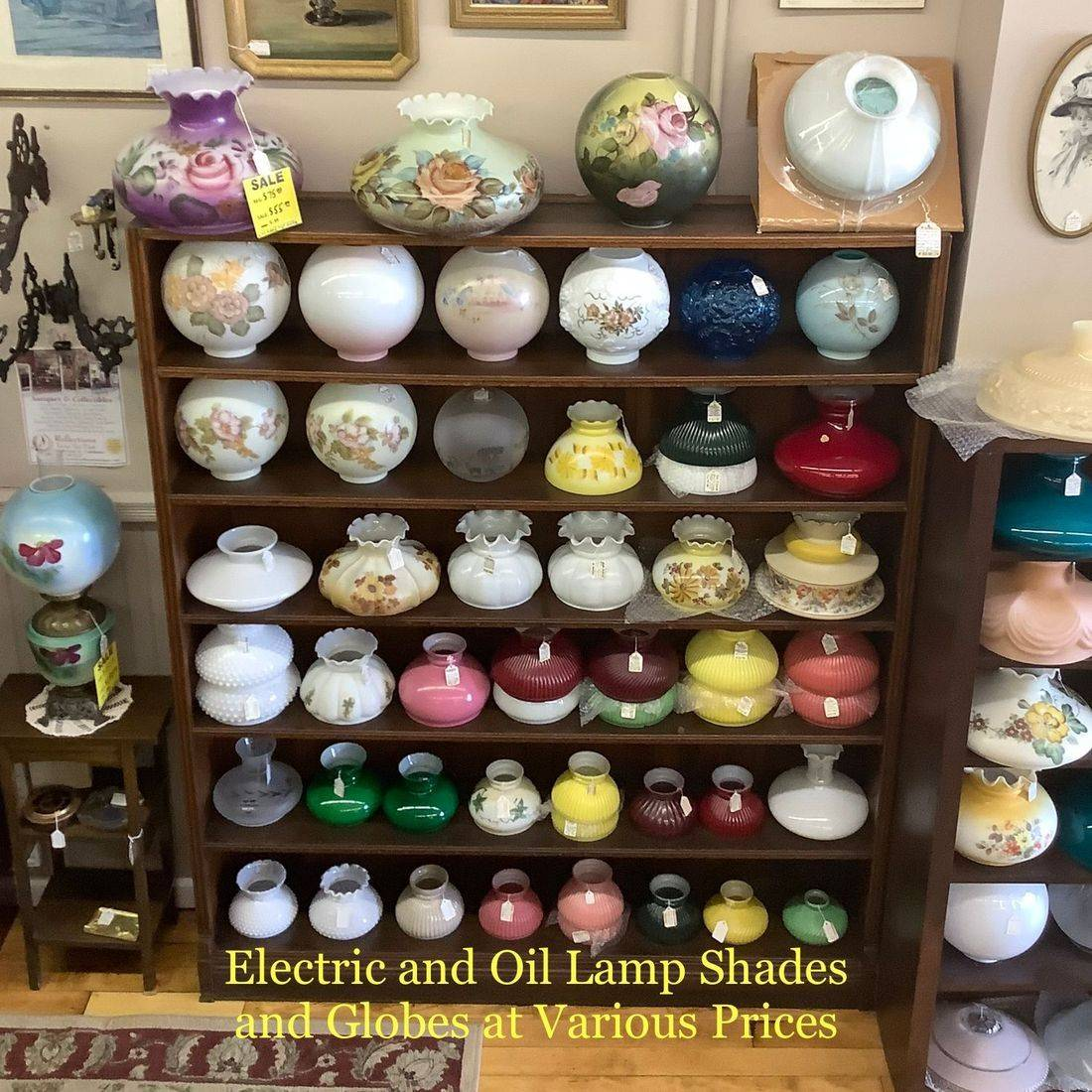 Electric and Oil Lamp Shades & Globes
