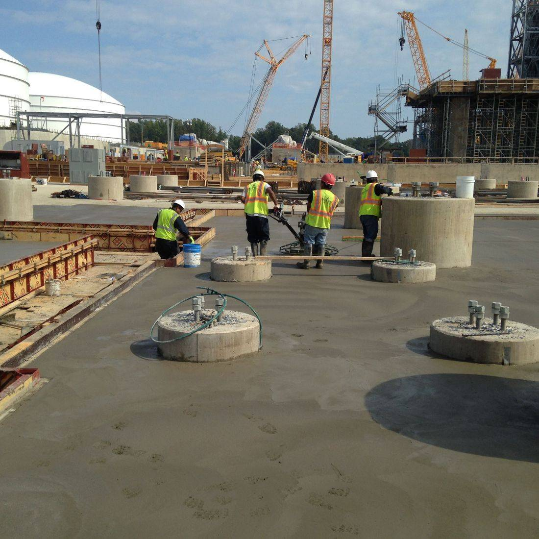 concrete construction finishing