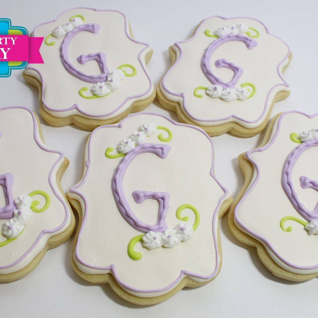 Monogram Letter Cookies Milwaukee
