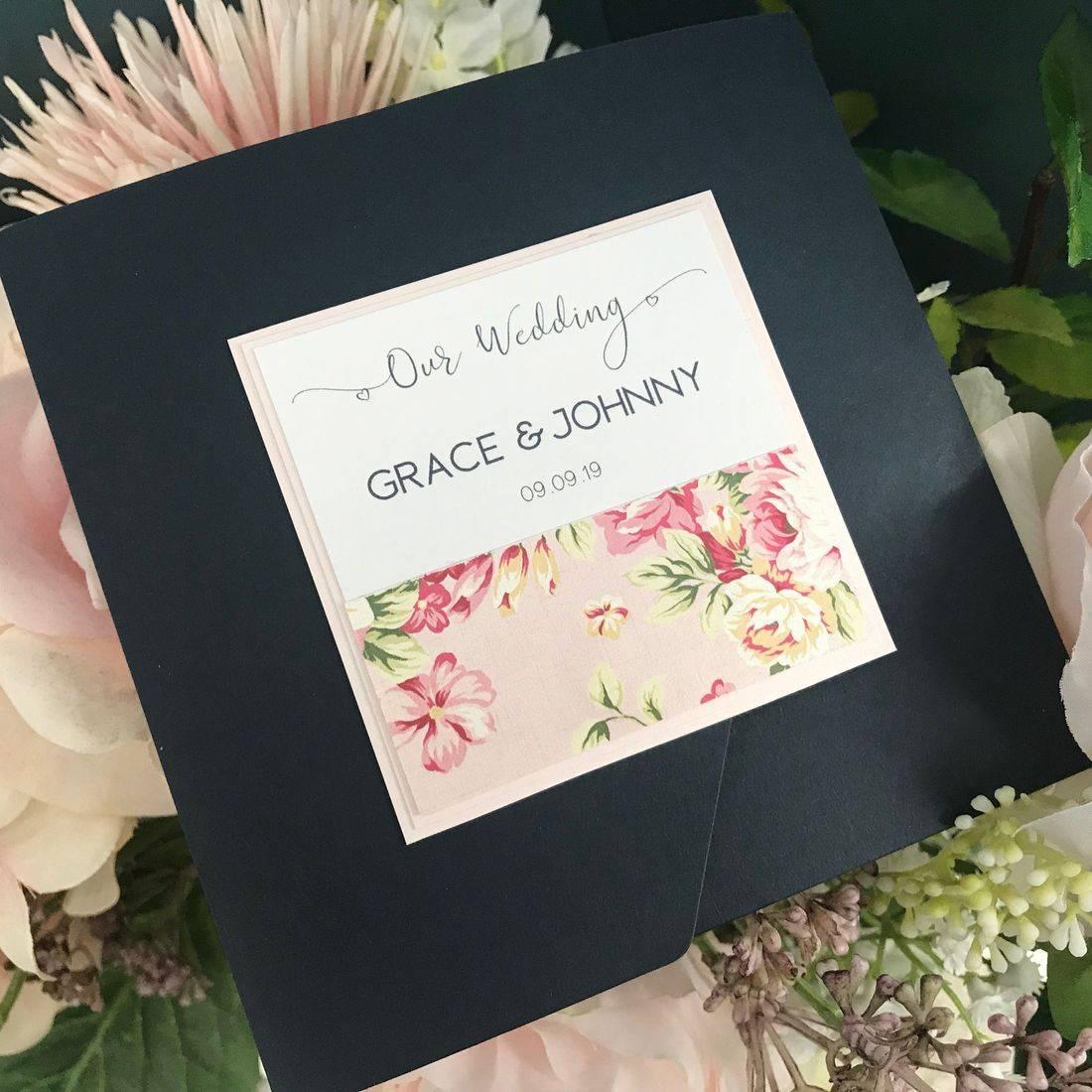 Glitter Invites - Rose Gold
