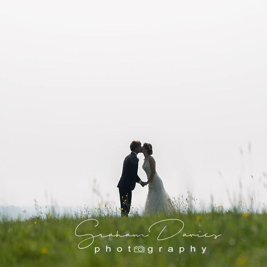 Feeling on top of the world in our meadows at Coed Weddings