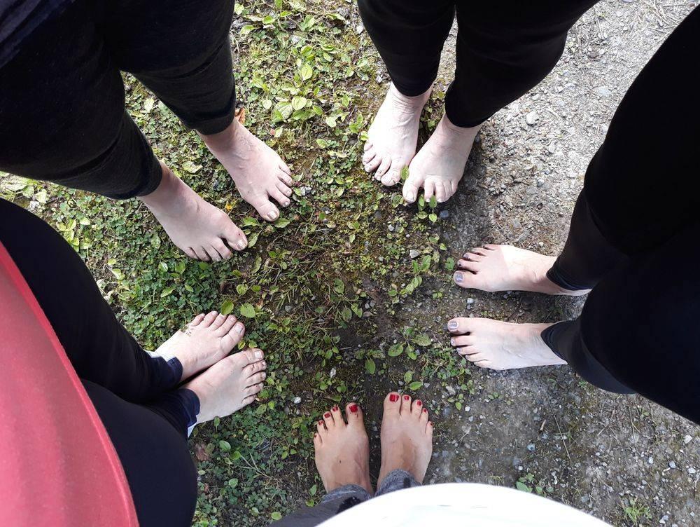 Barefoot barfuß in der Natur Leidenschaft