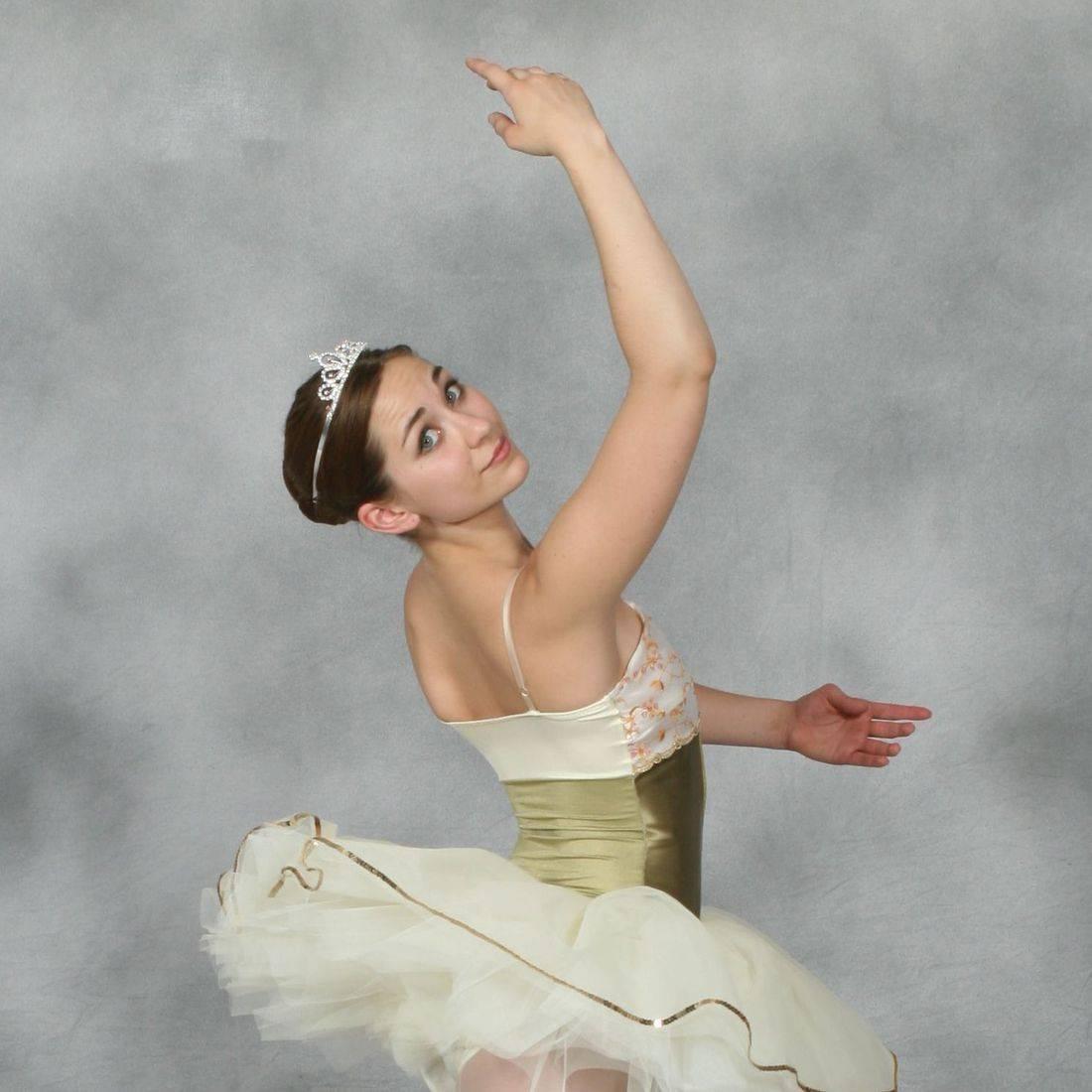 Miss Katie prepares to dance her solo.