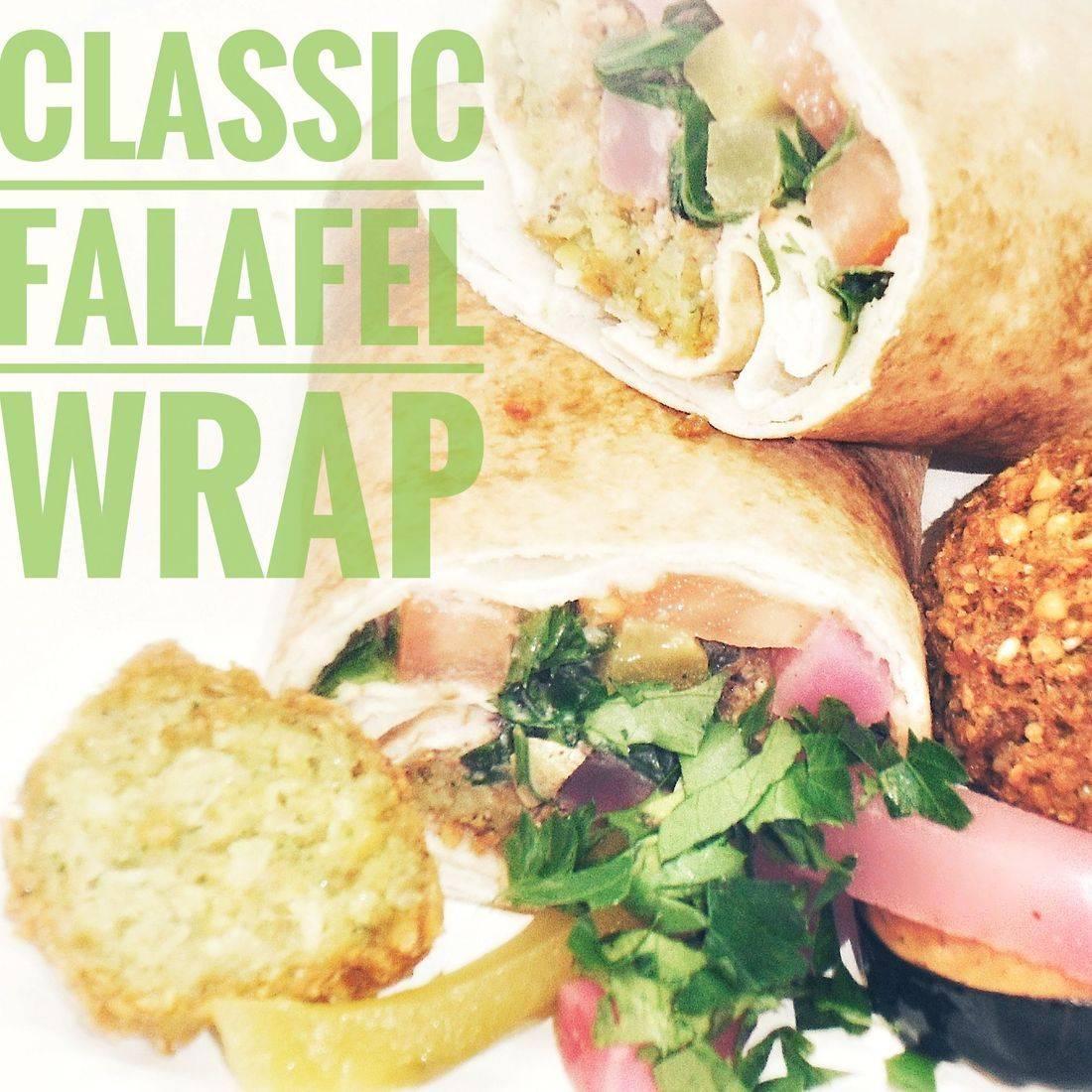 Classic Falafel Wrap Vegetarian Vegan