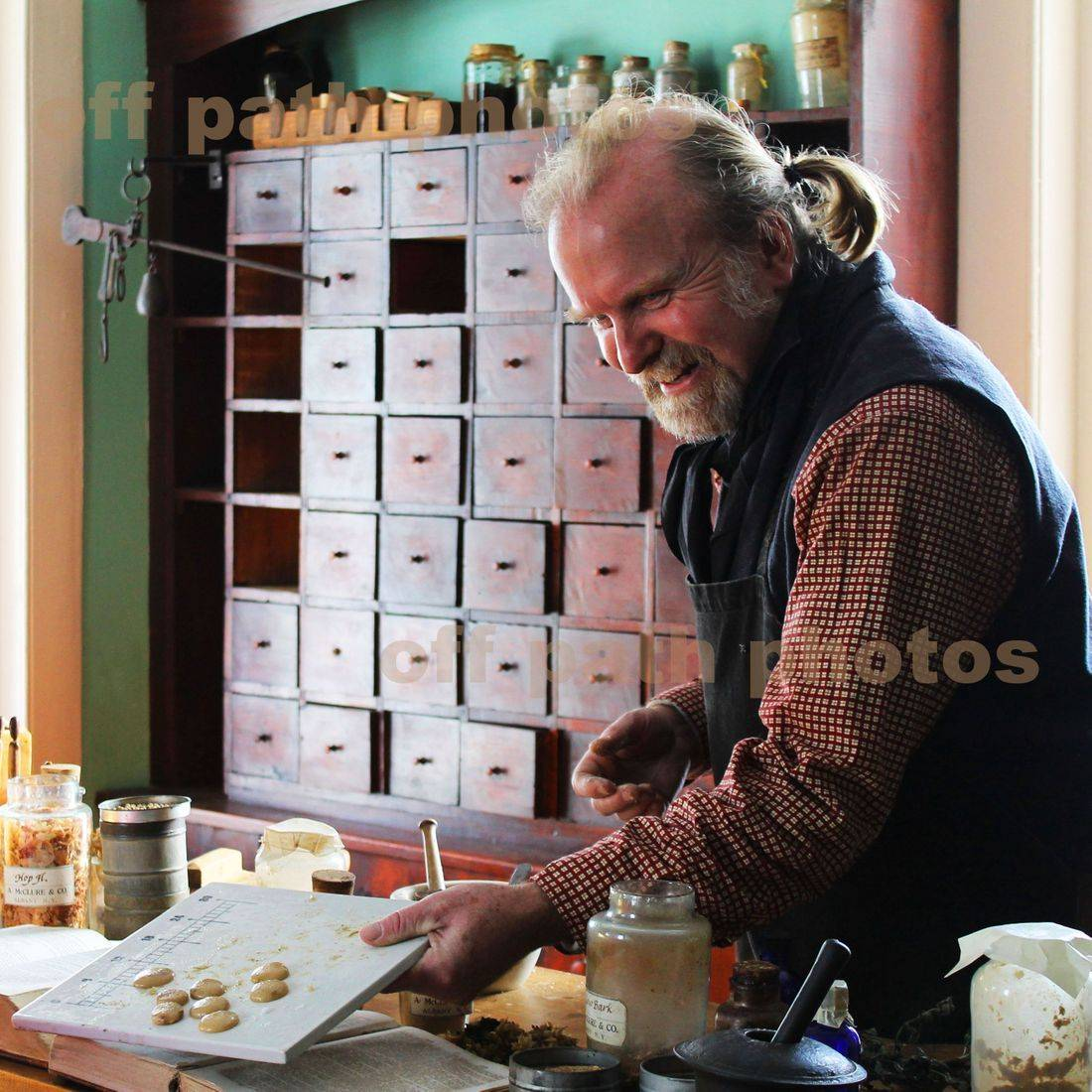 photography, antique, history, medicine, pharmacy, people, cough drops, Cooperstown, NY
