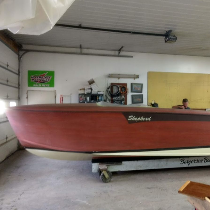 new shepherd boat build