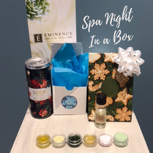 exhalo spa, spa in a box,  spa and chocolate, spa box
