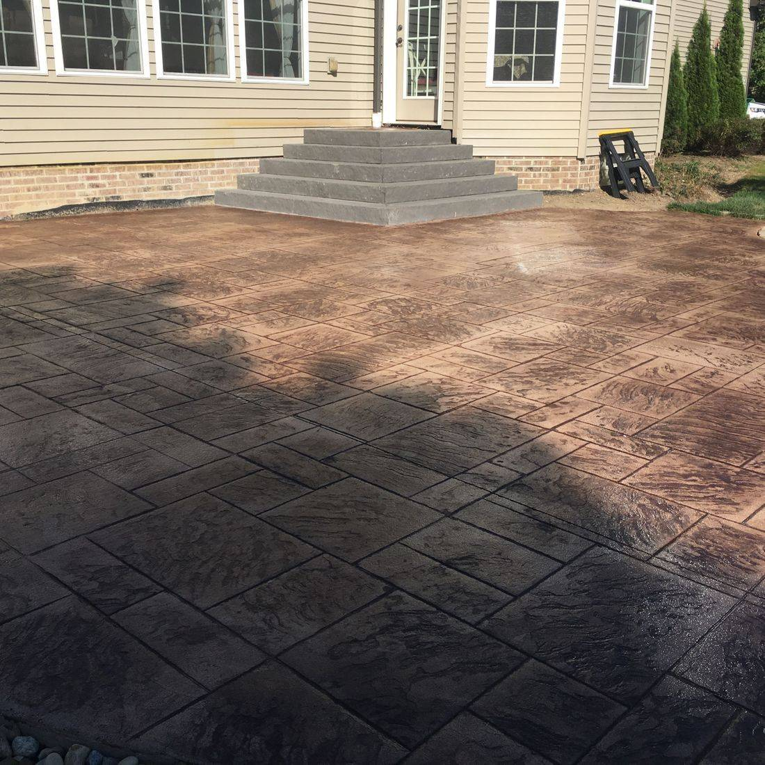 Concrete patio, stamped patio, colored concrete patio