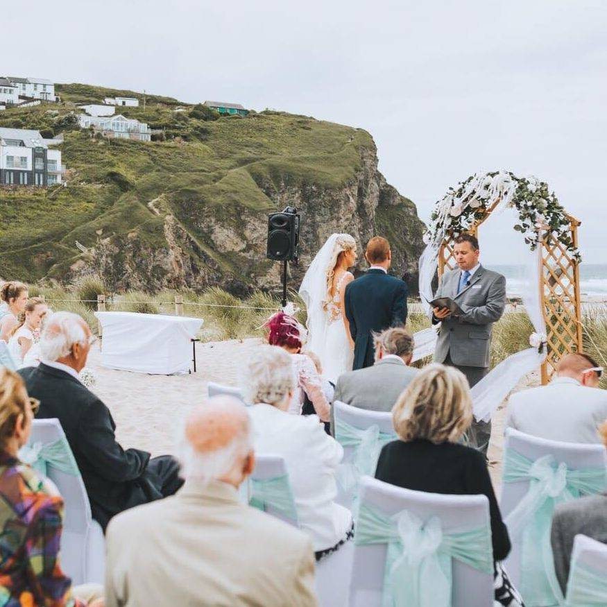 David Michael, Cornwall Celebrant, Beach Wedding, Porthtowan, Near Newquay, Cornwall
