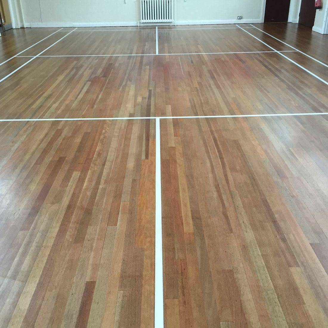 Church hall in Oadby Leicester after sanding and sealing