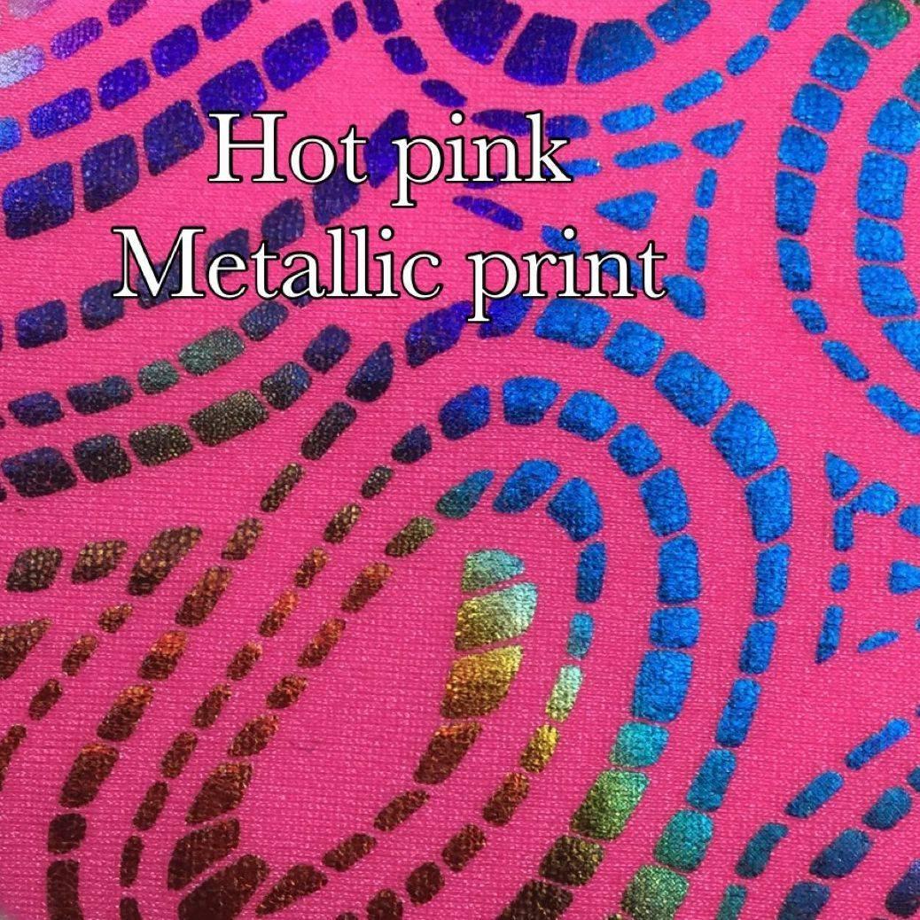 hot pink metallic print